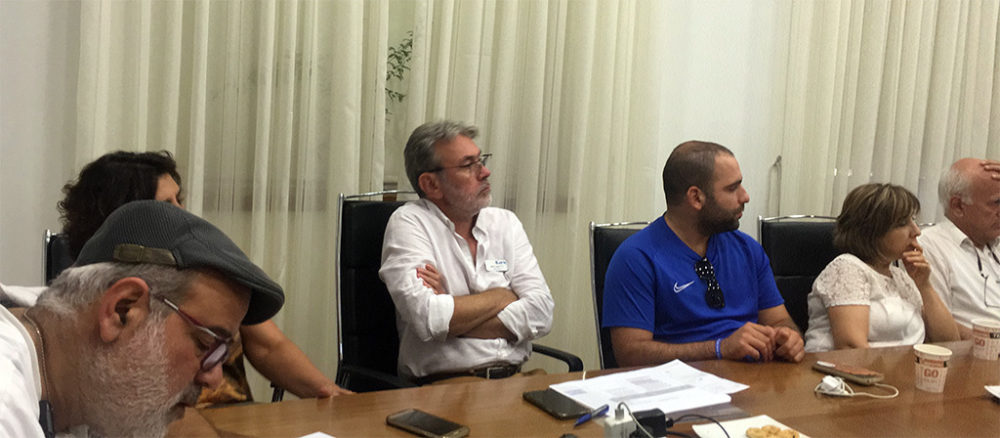 """ועדת """"איכות הסביבה"""" של חיפה, שעסקה במסקנות דו""""ח מבקר המדינה האחרון (צילום: אלה נוה)"""