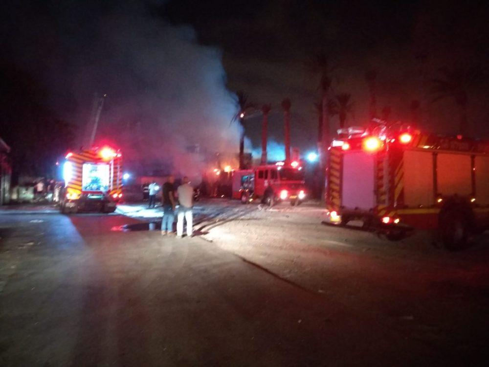 שרפה כילתה את מועדון מאיו (MAYO) ברחוב חלוצי התעשייה בחיפה (צילום: איחוד הצלה)