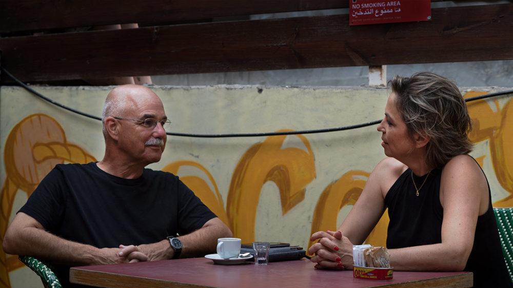 נגה כרמי ונחשון צוק בשיחה על עתיד התיירות בחיפה (צילום: ירון כרמי)