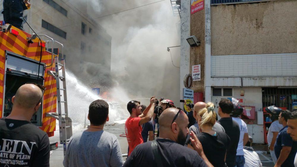 שריפה באזור הציק פוסט (צילום כבאות והצלה)