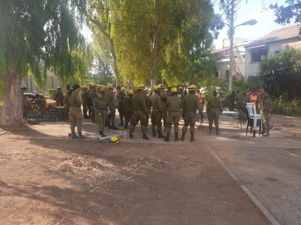 תרגיל צבאי במערב העיר חיפה • 11/9/19 (צילום: דודי מייבלום)