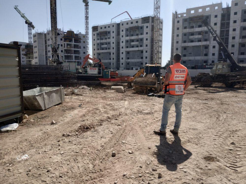 אתר בניה (צילום איחוד הצלה)