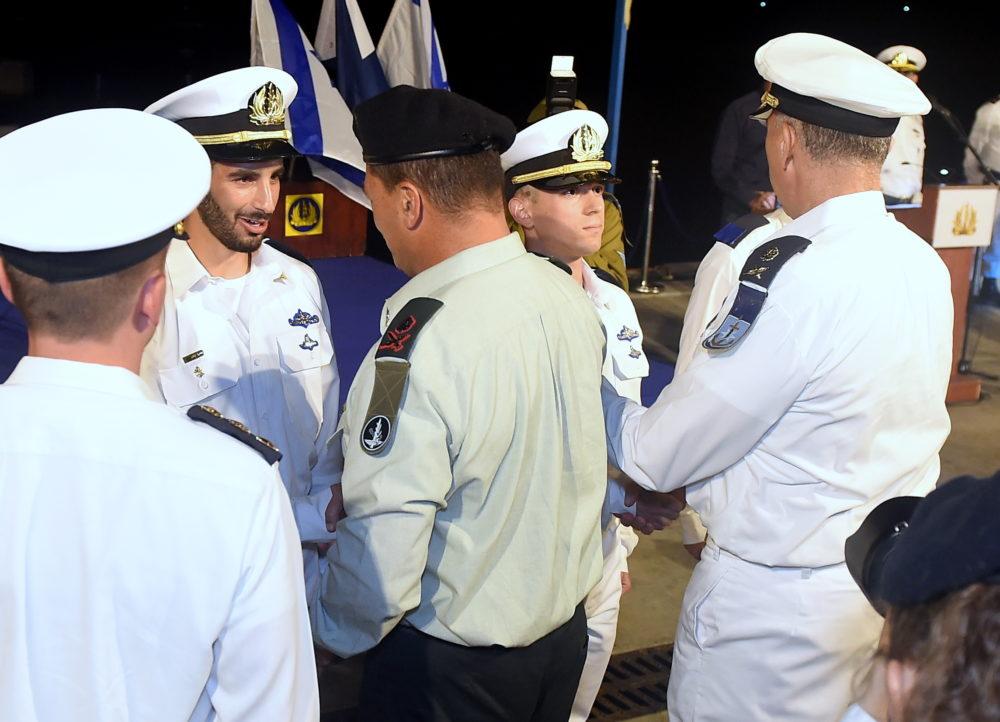 טקס סיום קורס חובלים בסיס זרוע הים בח  (צילום:יוסף הירש)