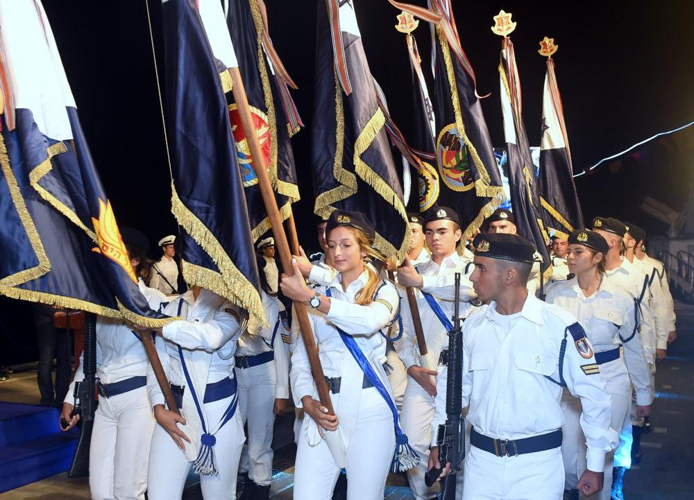 טקס סיום קורס חובלים בסיס זרוע הים בחיפה (צילום: יוסף הירש)