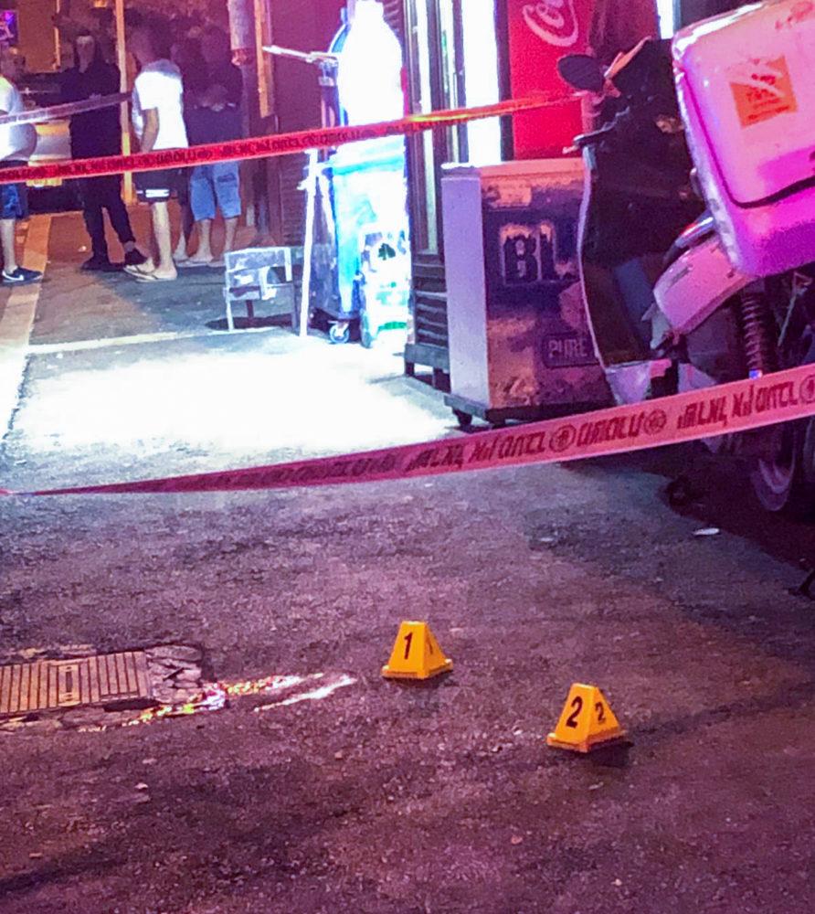 ירי בדרך אלנבי בחיפה - שני נפגעים (צילום: משטרת ישראל)