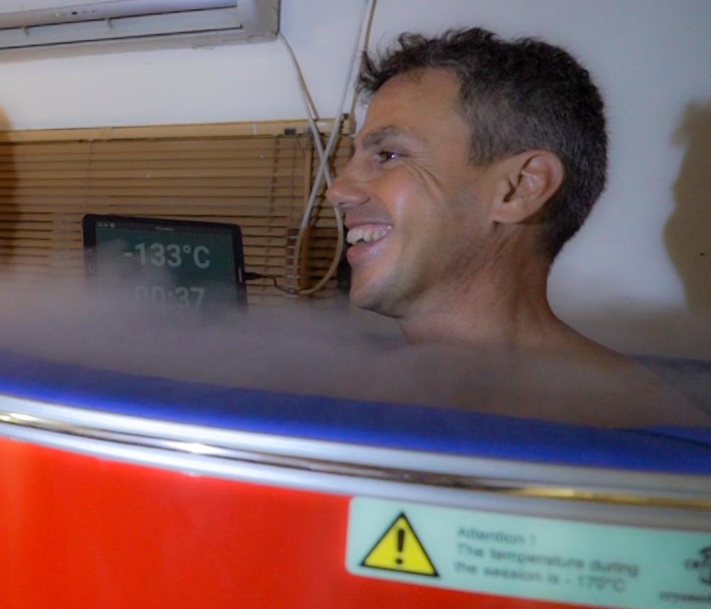 ארז טל אור - ספורטאי - קריותרפיה בחיפה - סאונת קור (צילום: ירון כרמי)