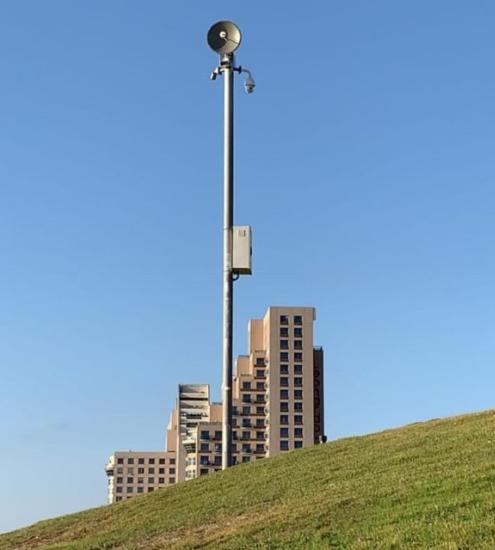 מצלמות אבטחה בחופי הרחצה (צילום: אגף החופים)