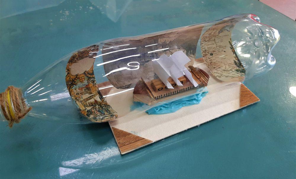 סדנת ספינה בבקבוק, המוזיאון הימי הלאומי (צילום: תמר גורקה קליינר)