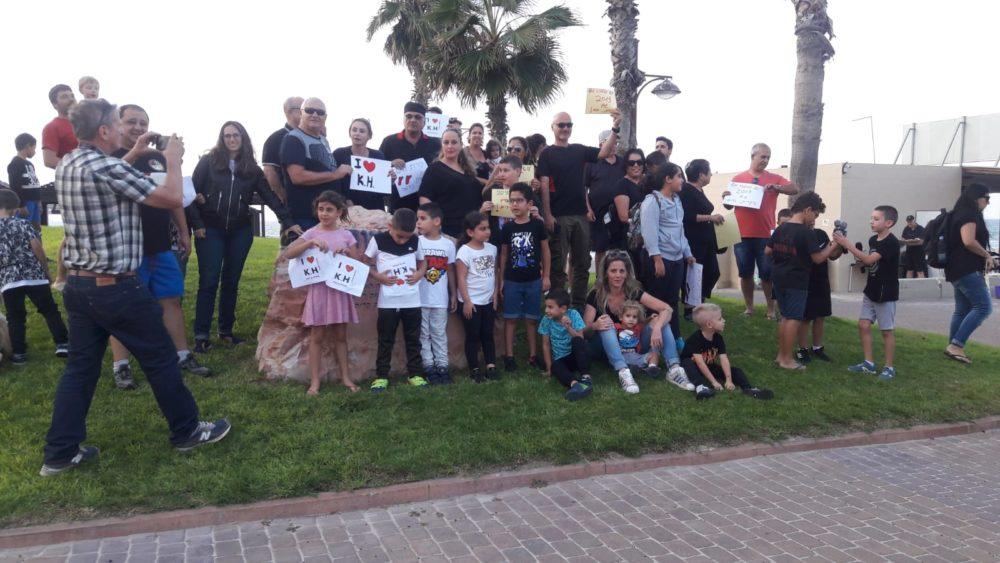 תושבי קריית חיים צעדו וקראו להפסקת ההזנחה על ידי עיריית חיפה (צילום: עליזה ברקן)