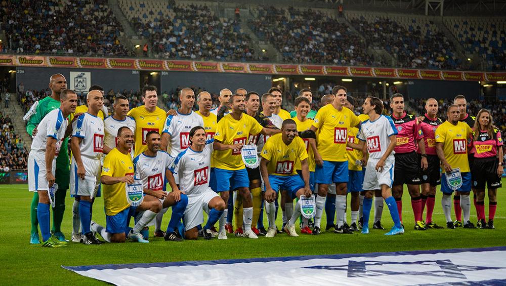 נבחרות ברזיל וישראל - משחק השלום בחליפה - ברזיל נגד ישראל (צילום: ירון כרמי)