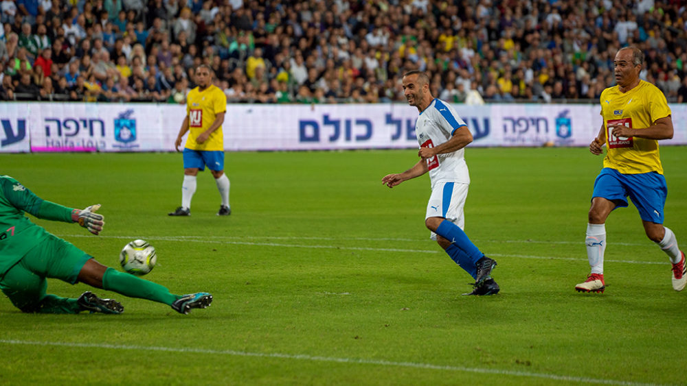 משחק השלום בחיפה - ברזיל נגד ישראל (צילום: ירון כרמי)