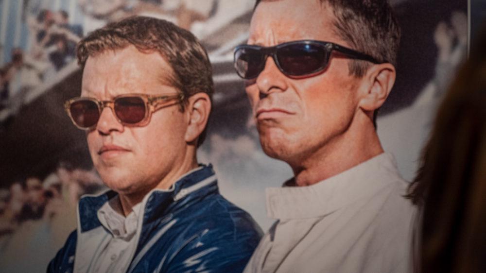 """כריסטיאן בייל ומאט דיימון בסרט """"פורד נגד פרארי"""" - טרום בכורה - פסטיבל הסרטים ה-35 בחיפה - ערב הפתיחה (צילום: ירון כרמי)"""
