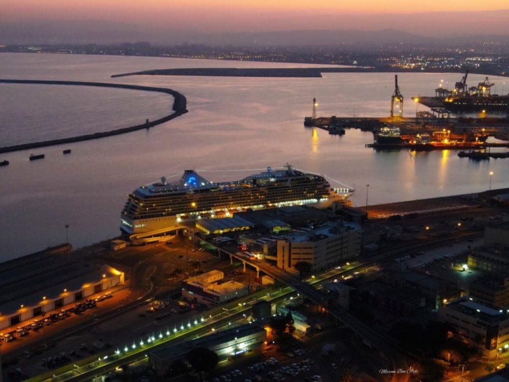 אניית הקרוזים MS MARINA בנמל חיפה (צילום: מרום בן אריה 054-8694777)
