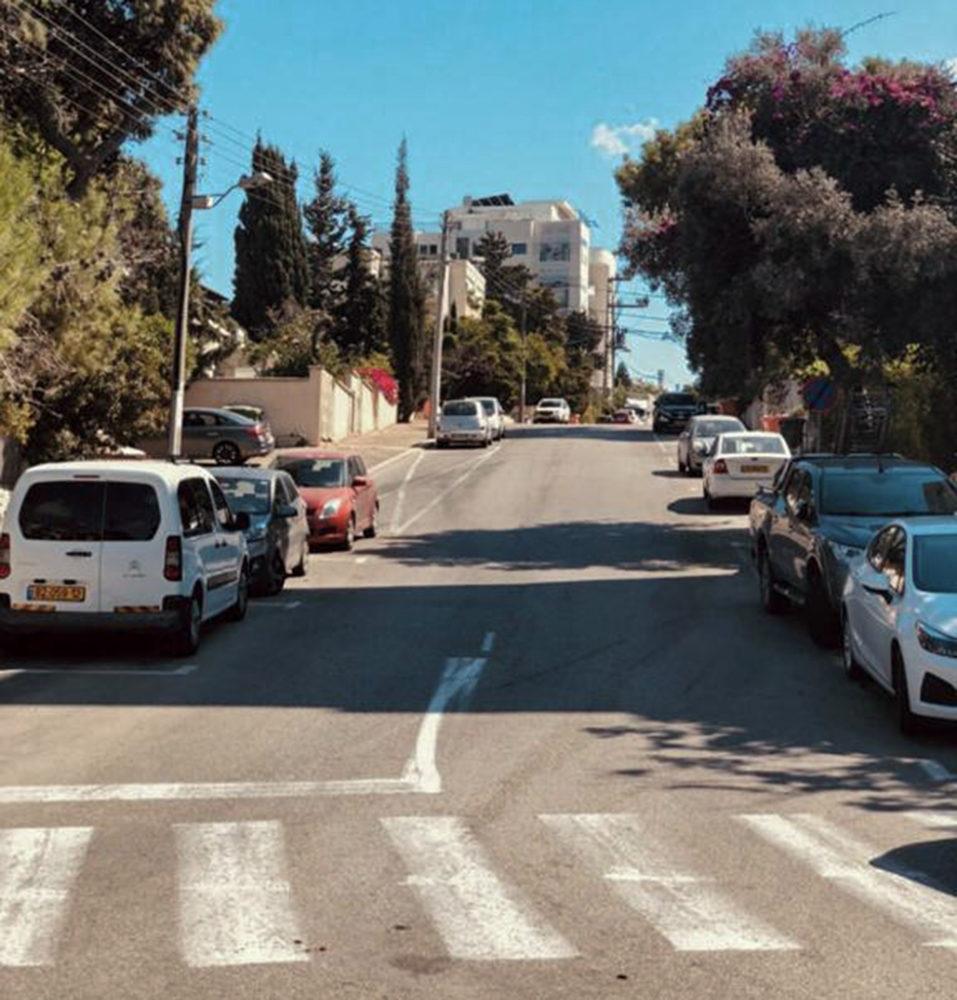 רחוב יערות - מבט מכיוון רחוב גבעת דאונס