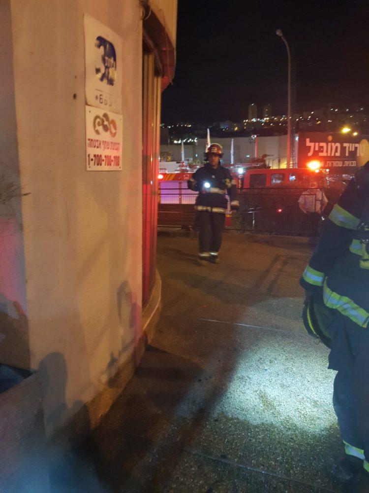 שריפה בשדרות ההסתדרות צילום כבאות והצלה