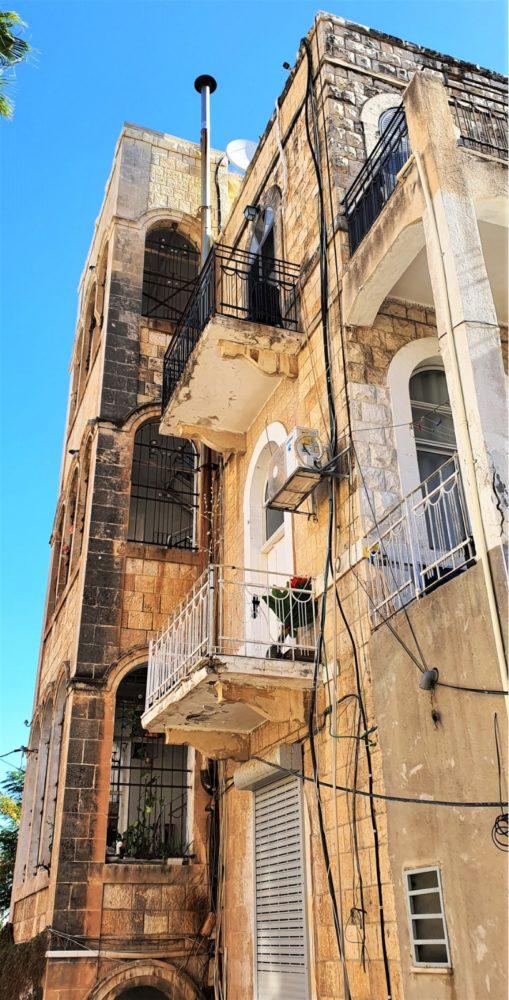 מבנה ברחוב סירקין בחיפה (צילום: נילי בנו)
