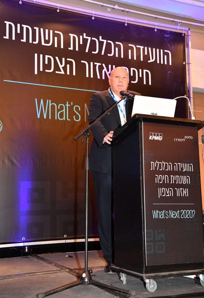 רוח גיא אהרוני שותף מנהל שלוחת חיפה KPMG יוזמת מארחת הוועידה הכלכלית חיפה והצפון(צילום : פאול אורלייב)