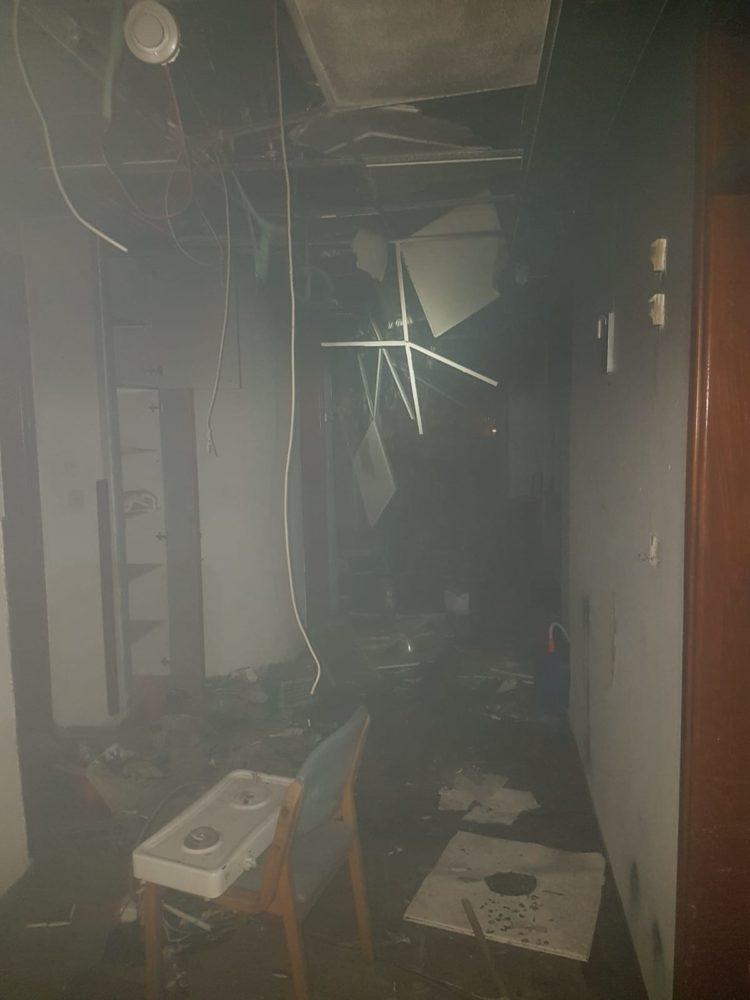 שריפה בסרקין 18 חיפה(צילום כבאות והצלה)