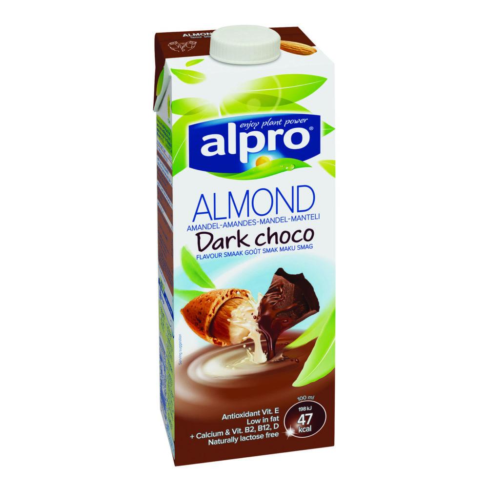 """אלפרו משקה שקדים בטעם שוקולד מריר 1 ליטר (צילום: יח""""צ חברת אלפרו)"""