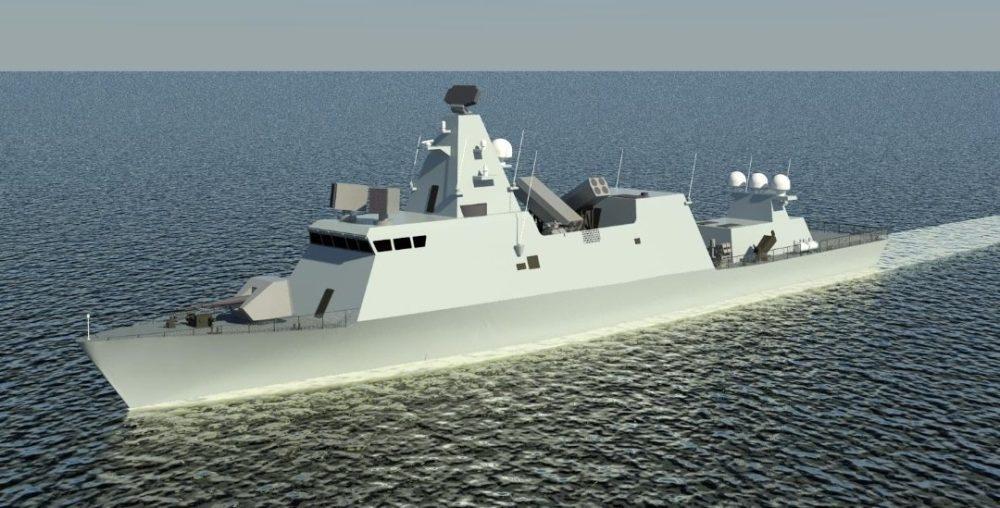 הדמיה של ספינת הטילים העתידית שתסופק על ידי מספנות ישראל (צילום משרד הבטחון)