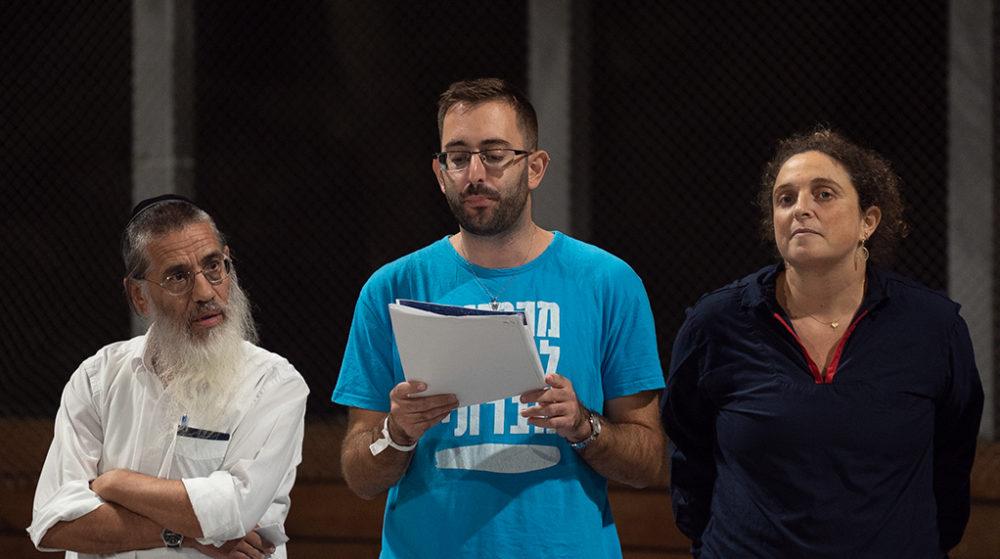 מיטל רוט ועידן ורון בטקס הסיום - מעגלי שיח בחיפה • ארגון אסיפה ישראלית (צילום: ירון כרמי)