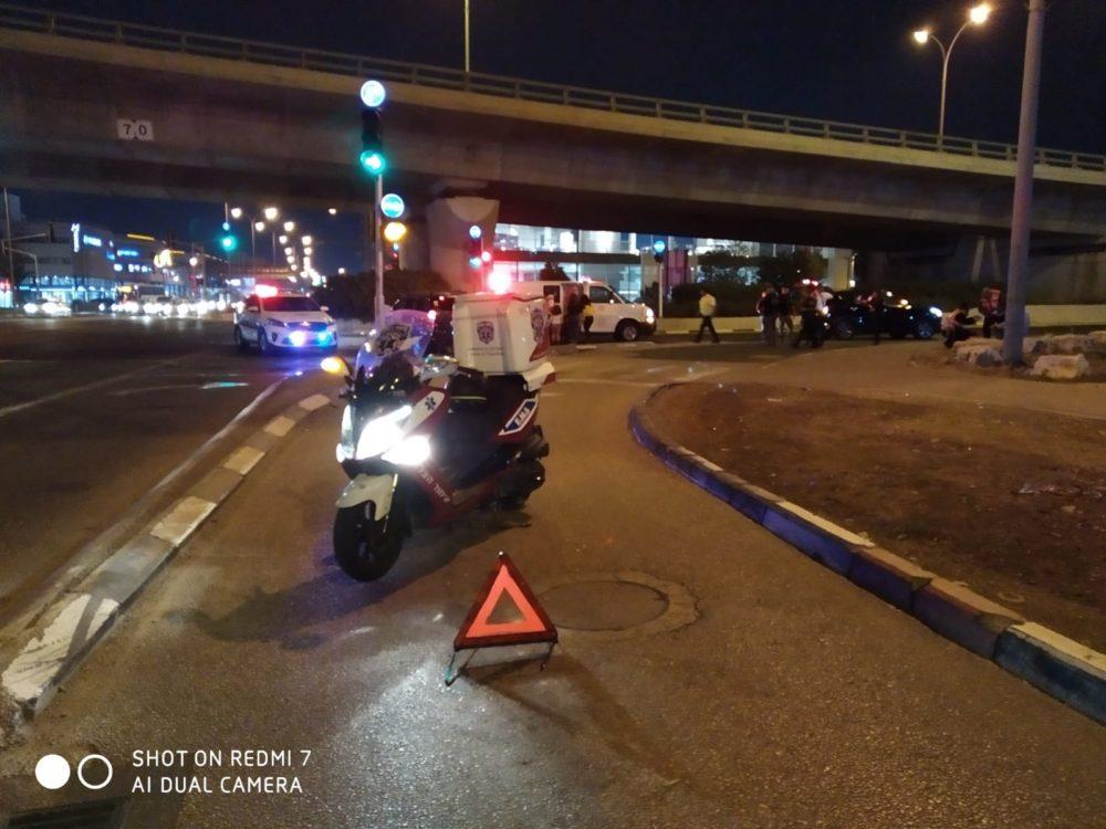 תאונת דרכים בצומת לב המפרץ (צילום: איחוד הצלה)