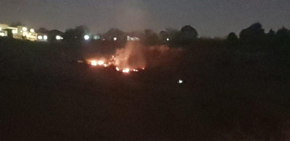 שריפת חורש בשני מוקדים בטבעון (צילום: לוחמי האש)
