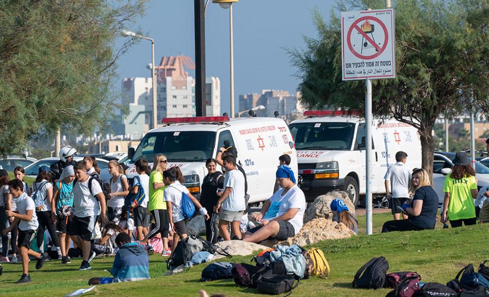 מירוץ ליאו באק בחוף הים של חיפה (צילום: ירון כרמי)