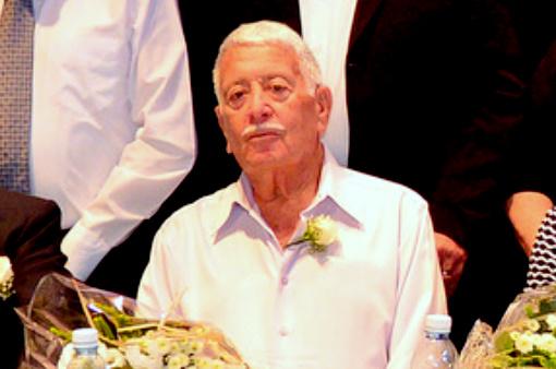 """שלמה וול ז""""ל בטקס הענקת אות יקיר העיר (צילום: דוברות עיריית חיפה)"""
