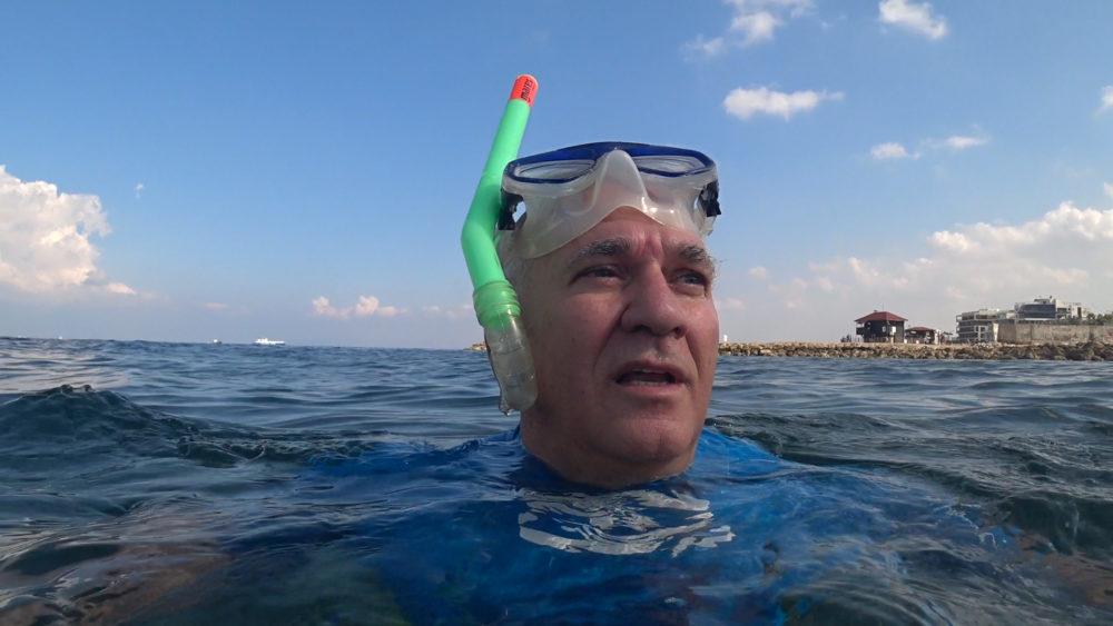 אביהו האן בראיון לחי פה • הפנינג צלילה בבת גלים (צילום: ירון כרמי)