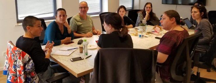 תנועת הבוחרים חיפה, פגישת הצוות המוביל (צילום: סיגלית קורן)