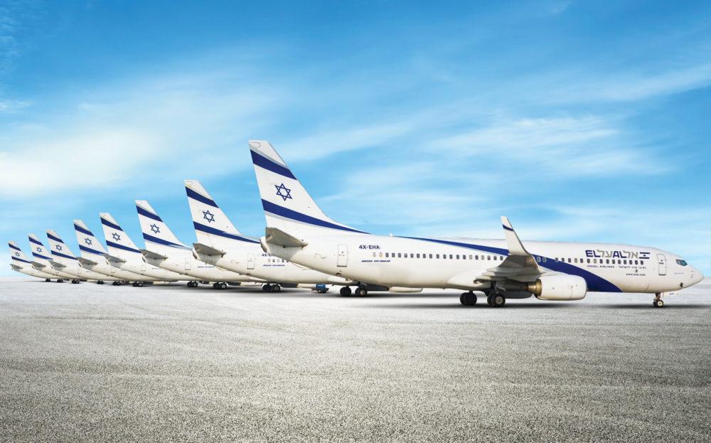 תמונת אילוסטרציה של שמונת מטוסי ה-737-900 של חברת אל על צילום יחצ