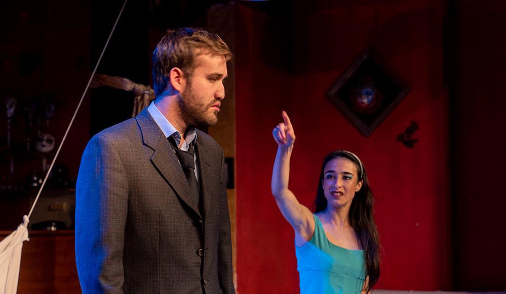 """ניצן בן דוד ועמית נאור בהצגה """"מי מפחד מוירג'יניה וולף"""" - תאטרון הסטודיו (צילום: ירון כרמי"""