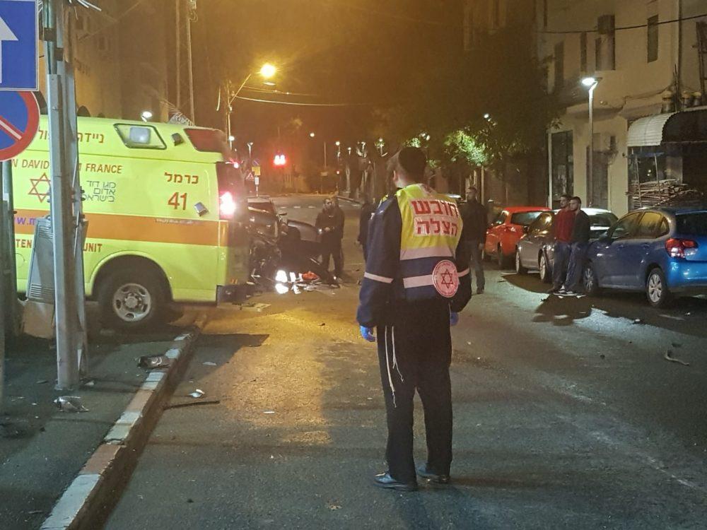 """תאונת דרכים ברחוב הרצל (צילום מצ""""א)"""