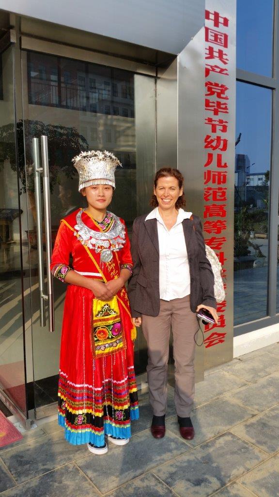 """ד""""ר אורית דרור, ראש החוג לחינוך בגיל הרך בעת ביקור בסין (צילום: באדיבות מכללת אורנים)"""