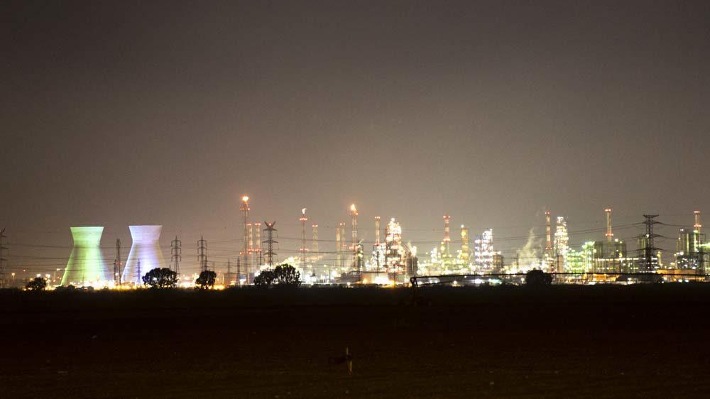 זיהום אוויר בצילום לילה - ארכיון (צילום: חי פה בשטח)