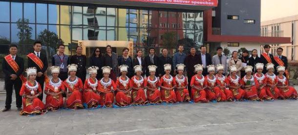 קבלת פנים לצוות אורנים בעת ביקור בסין (צילום: באדיבות מכללת אורנים)