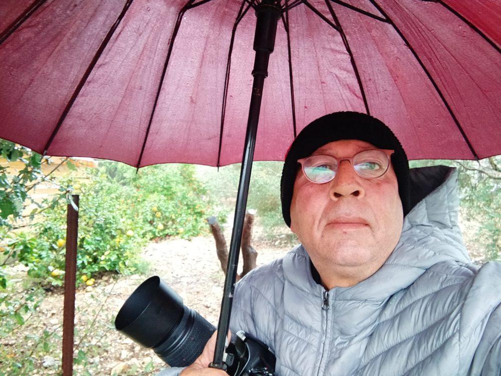 נביל נסראלדין - צילום עצמי - נחל אורן זורם בעוצמה (צילום מימי הסערה: נביל נסראלדין)