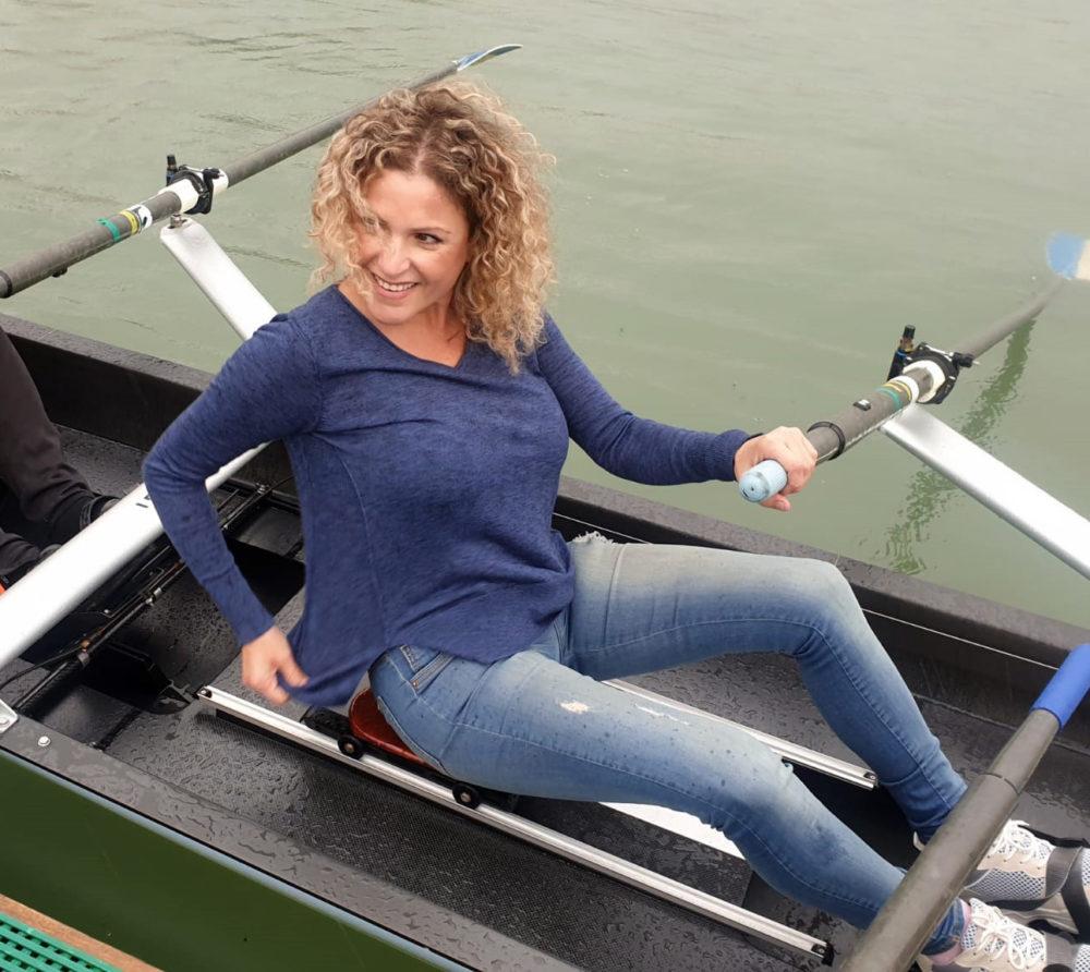 הילה לאופר • השקת סירות חתירה חדישות במועדון החתירה בחיפה (צילום: דודי מיבלום)