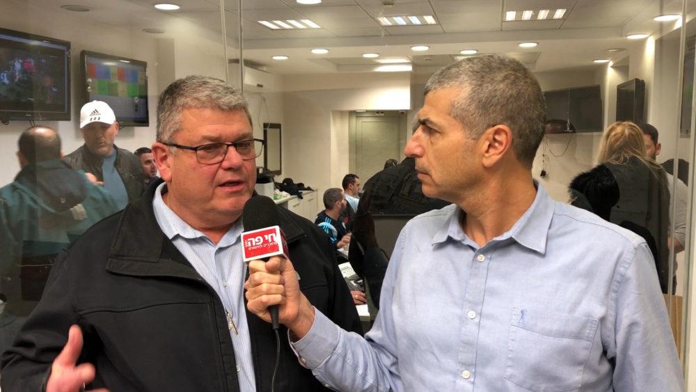 ירון כרמי ואיתן שטיאסני - מוקד החירום של עיריית חיפה - ההצפות