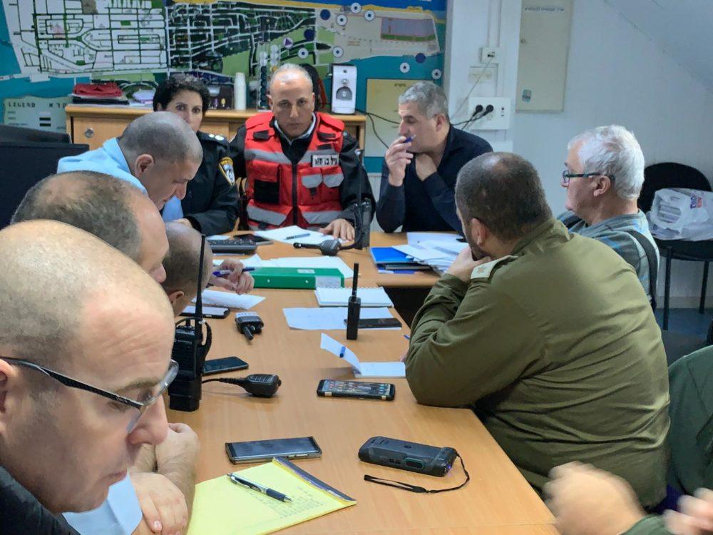 הצפות באזור חיפה - המטה המשותף של כוחות ההצלה (צילום: לוחמי האש)