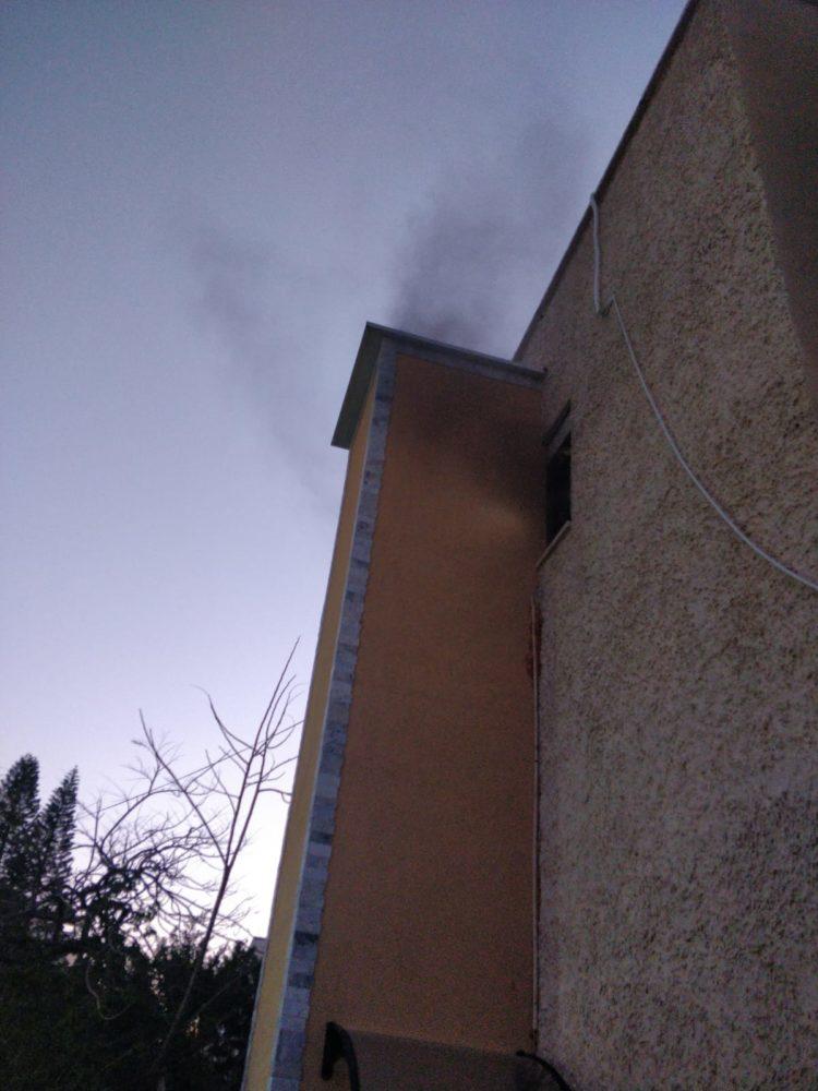 שריפה במבנה (צילום כבאות והצלה)