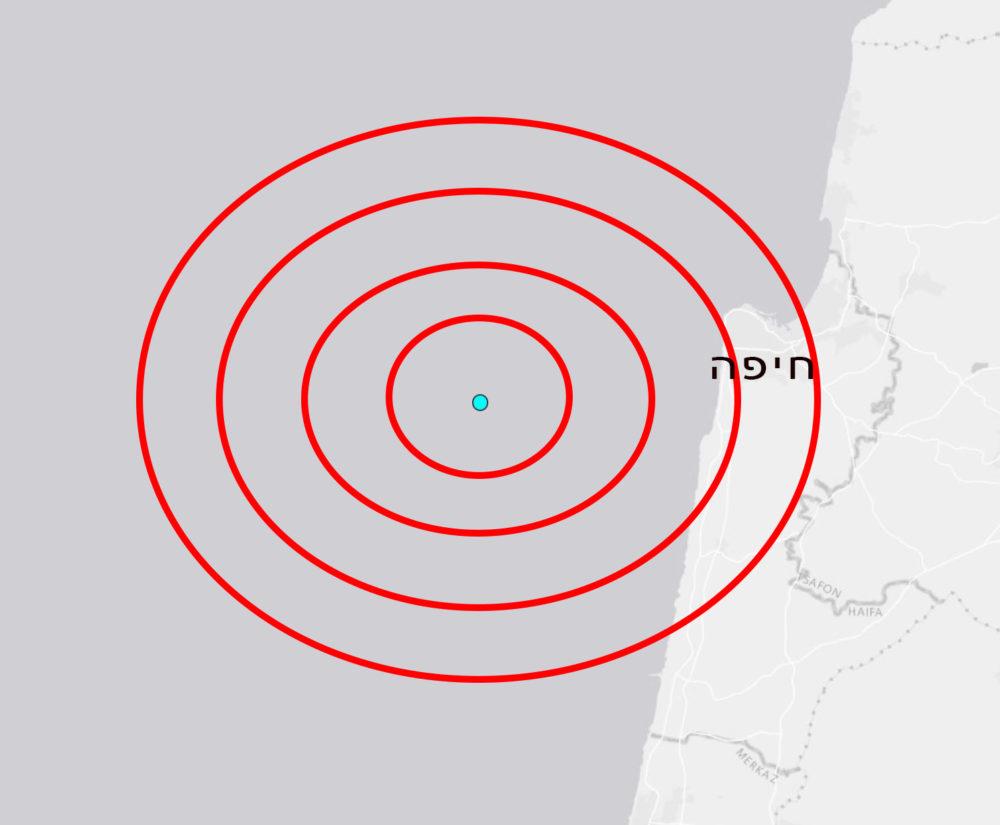 """רעידת אדמה חזקה הורגשה בחיפה • המקור נמצא כ-10 ק""""מ מערבית לחיפה"""