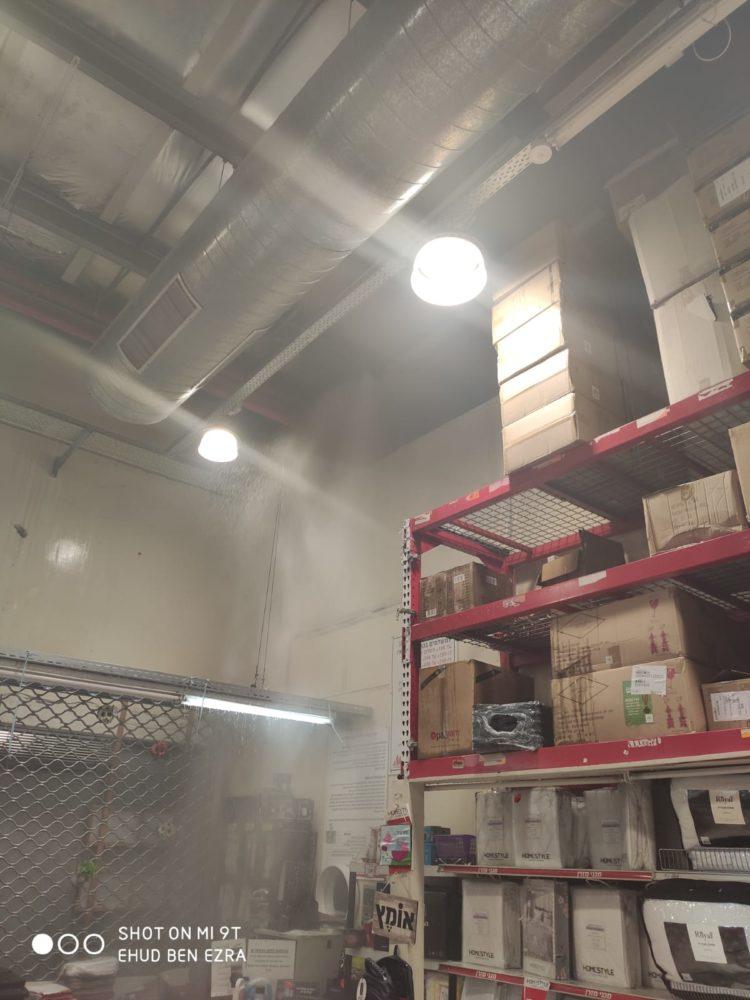 שריפה בחנות ACE שבמתחם ביג קרית אתא (צילום: לוחמי האש)