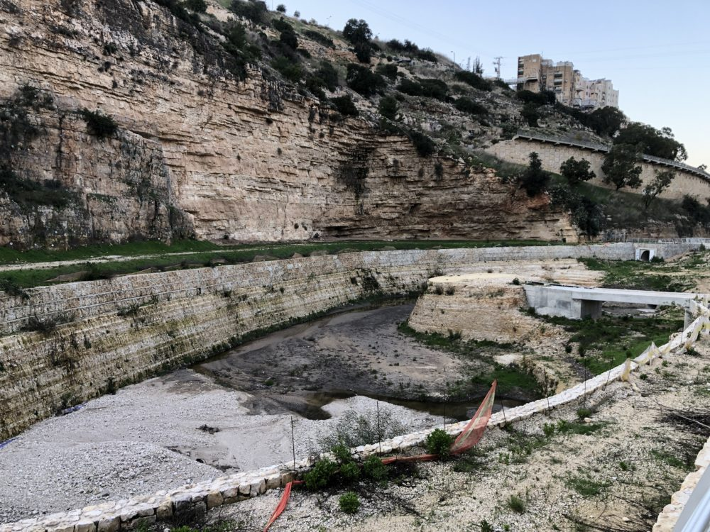 האגם המלאכותי • נחל הגיבורים בחיפה (צילום: ירון כרמי)