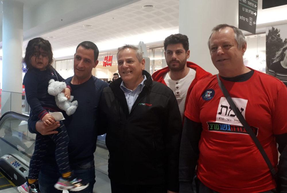 ניצן הורביץ, יו''ר מפלגת מרצ סייר בחיפה ונפגש עם פעילי סביבה (צילום: אלה אלכסנדרי)