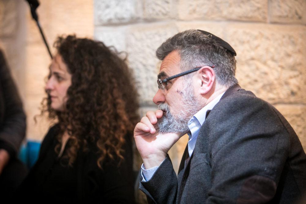 הרב דוב חיון והילה גולן • מפגש הכנה לפסטיבל חיפה להצגות ילדים ה-30 (צילום: ערן גילווארג)