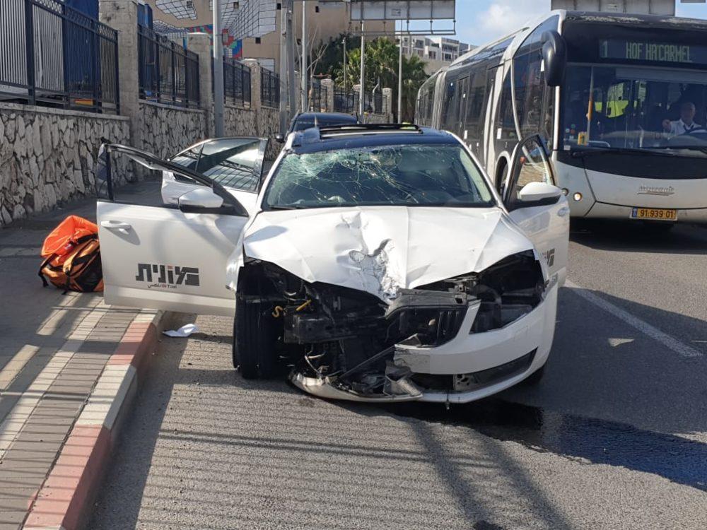 תאונה עצמית של מונית(צילום: איחוד הצלה)