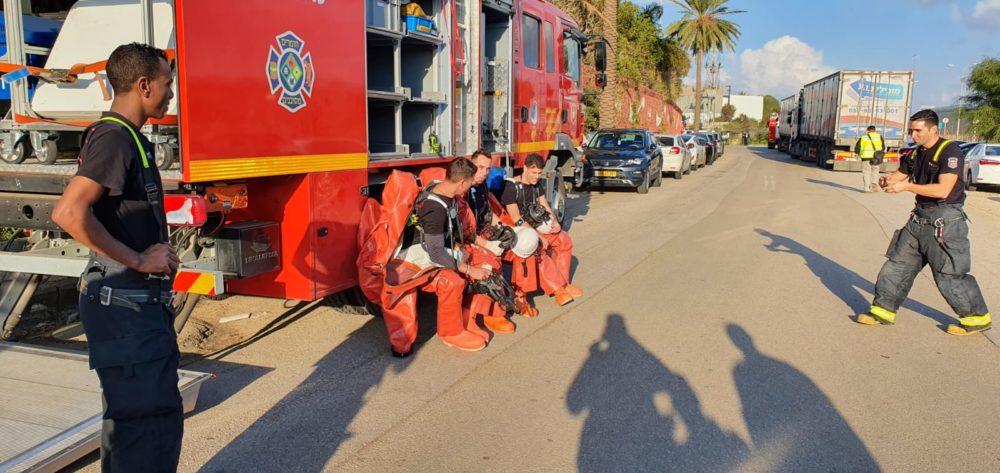 דליפת אמוניה במפעל קוקה קולה(צילום: כבאות והצלה)