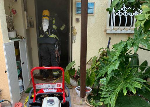 שריפה (צילום: כבאות והצלה תחנה איזורית חיפה)